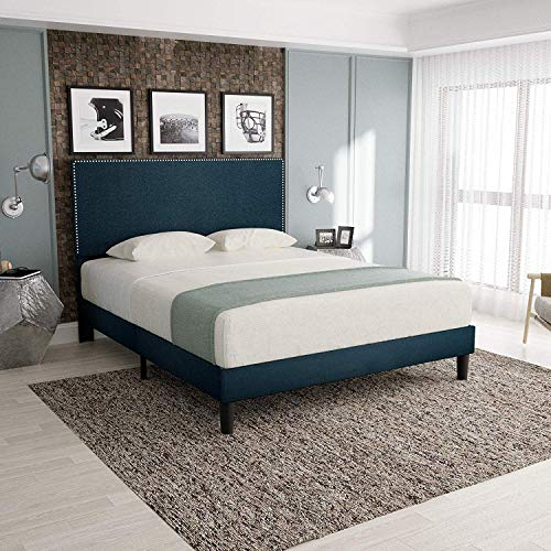 Best Price ORAF Queen Size Upholstered Platform Bed Frame, Modern Mattress Foundation with Headboard...