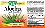 Nature's Way Aloe Lax with Fennel Seed Vegetarian Capsules, 100 Count