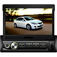 BEIDOUYH CVD1870A 7 inch Android 6.0 Single Din In-Dash Car Stereo GPS Navigation with Touch Screen Bluetooth WiFi AM/FM Radio Support Rearview Camera/DVR/Steering Wheel Control 185MM55MM