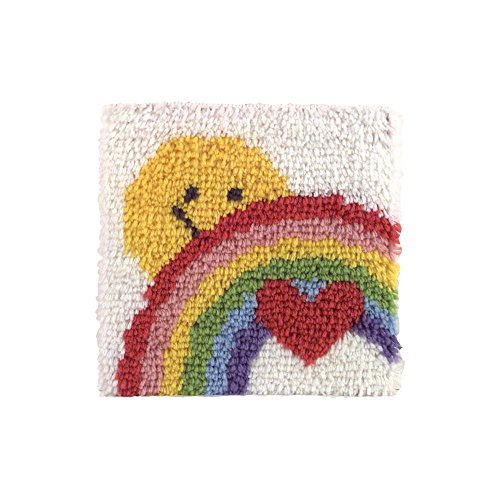 Caron Rug Kits - Caron P504 Natura Latch-Hook Kit, Sunshine Rainbow, 12