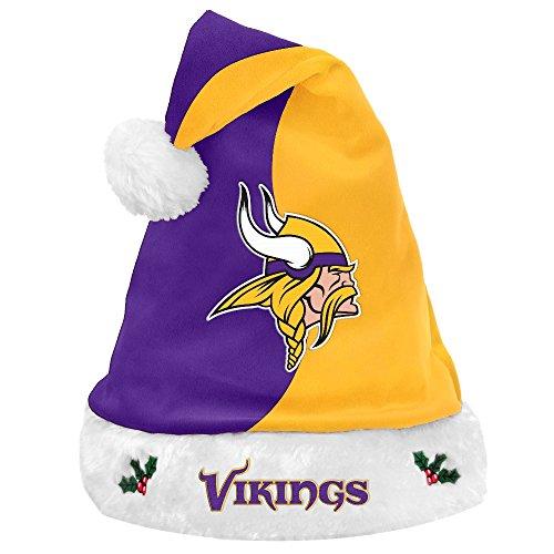 Viking Plush Hat (Minnesota Vikings 2017 NFL Basic Logo Plush Christmas Santa Hat)