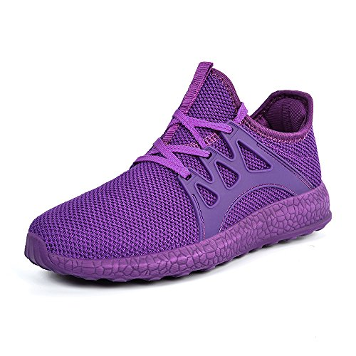 es for Women Tennis Shoes Mesh Vamp Lightweight Casual Sneakers Purple 6B(M) US (Purple Womens Sneakers)