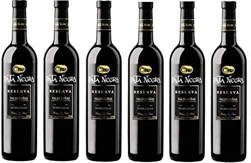 Pata Negra Reserva Vino Tinto D.O Valdepeñas - Pack de 6 Botellas x 750 ml: Amazon.es: Alimentación y bebidas