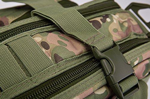 Tacvasen 15 Zoll Laptop-Schultertasche für Herren Outdoor Militärrucksack, Kuriertasche grün grün CP