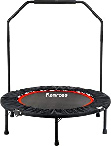 """FLAMROSE 40"""" Fitness Trampolines Foldable Exercise Rebounder Trampoline Home Cardio Fitness for Kids Adults Indoor Garden Workout"""