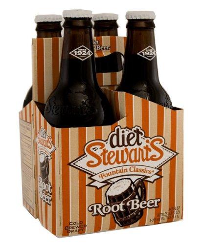 - Stewart Sodas Diet Root Beer, 4pk, 12 oz