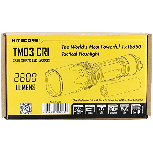 Nitecore TM03 CRI XHP70 2600LM Tactical LED Flashlight With 18650 Battery by KAMOLTECH (Image #6)