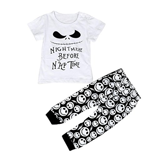 Kolylong Infant Toddler Baby Boys Cartoon letter Print T shirt TopsPants Outfits Clothes
