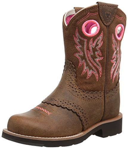 Kids Boots Western Fatbaby - Kids' Fatbaby Cowgirl Western Boot (Little Kid/Big Kid), Powder Brown/Western Brown, 3.5 M US Big Kid