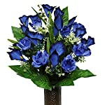 Blue-Rose-and-Calla-Lily-Mix-Artificial-Bouquet-featuring-the-Stay-In-The-Vase-Designc-Flower-Holder-MD1264