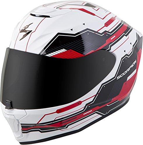 Scorpion EXO-R420 Full-Face Techno Street Bike Motorcycle Helmet - White/Red/Large
