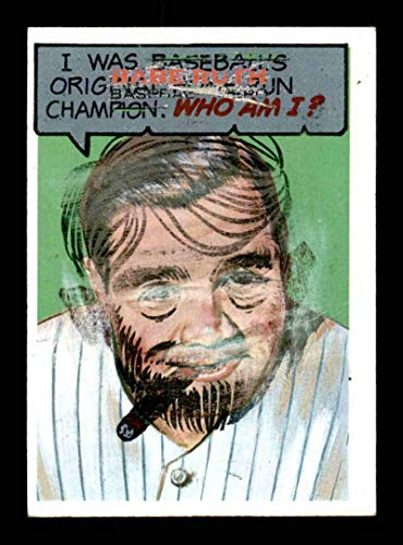 #12 Babe Ruth - 1967 Topps Who Am I Non-Sports Cards for sale  Delivered anywhere in Canada