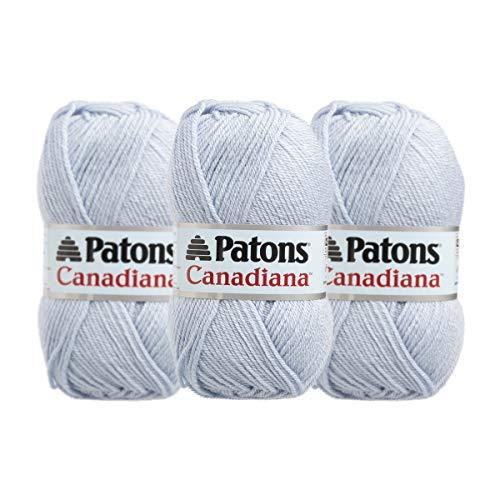 iana 100% Acrylic Soft Pale Water Blue Yarn for Knitting Crocheting Medium #4 ()