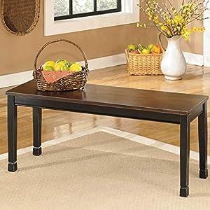 Ashley Furniture Signature Design - Owingsville Dining Bench - Rectangular - Black and Brown & Berringer Dining Bench…