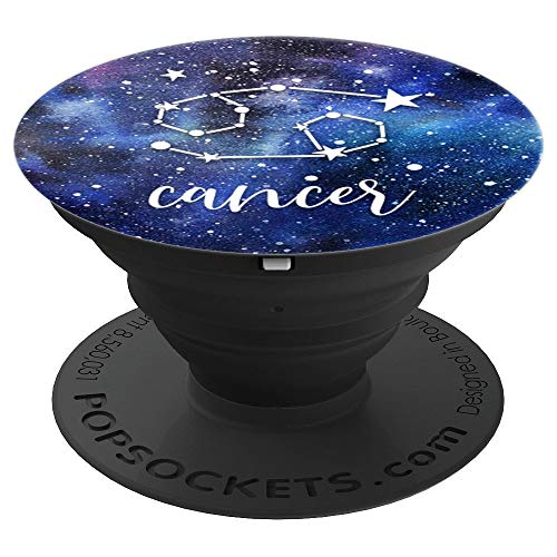 Cancer - Blue Astrological Horoscope Zodiac Star Sign - PopSockets Grip and Stand for Phones and Tablets
