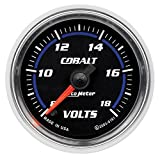 "Auto Meter 6191 Cobalt 2-1/16"" 8-18V Full Sweep Electric Voltmeter"