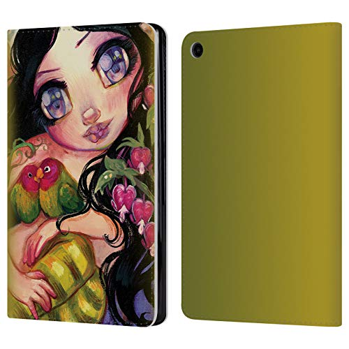 Natasha Leather - Official Natasha Wescoat Love is in The Air Fantasy Leather Book Wallet Case Cover for Amazon Fire HD 8 (2017)