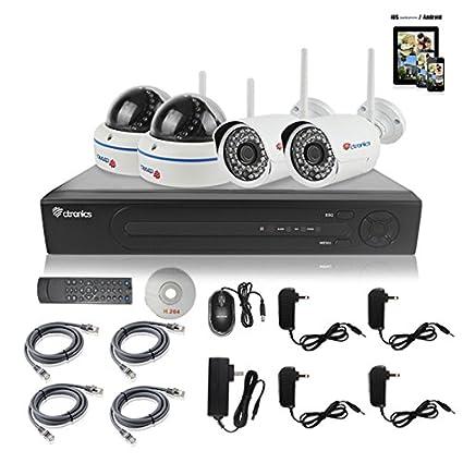 8 ch 1080 P Ctronics Home Surveilliance NVR 4 sistema de seguridad para exteriores/interiores