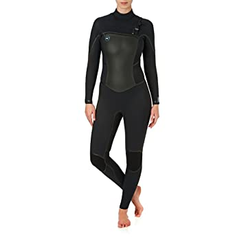 681f3d8f62 O Neill Womens Psycho Tech 5 4MM Winter Cold Weather Chest Zip Wetsuit  Black  Amazon.co.uk  Sports   Outdoors