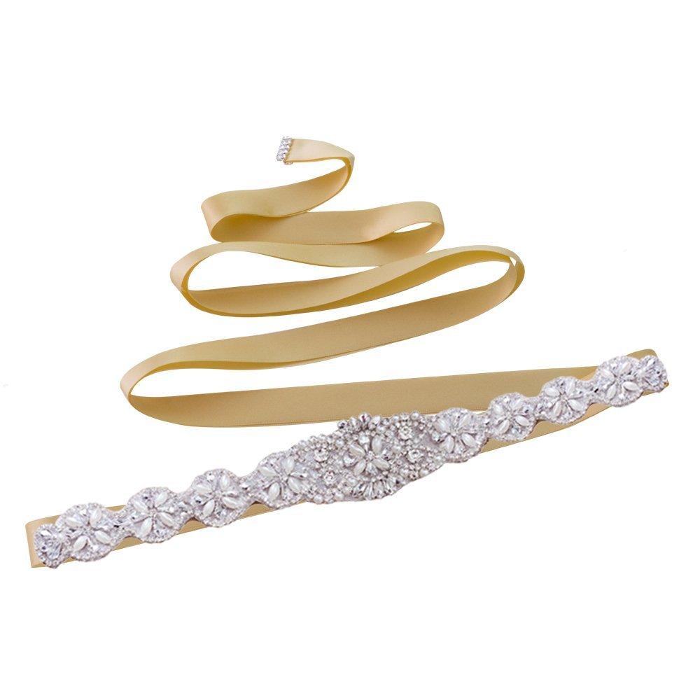 Azaleas Womens Rhinestone Crystal Wedding Bridal Sash Belt