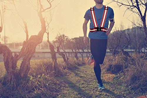 247 Viz Reflective Vest with Hi Vis Bands, Fully Adjustable & Multi-Purpose: Running, Cycling Gear, Motorcycle Safety, Dog Walking & More - High Visibility Neon Orange by 247 Viz (Image #3)