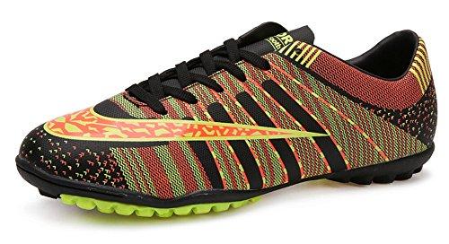 JiYe Pro-Sports Shoes Women's and Men's Jogging Walking Riding Running Shoes Cross-Training Racquet,Fashion Sneskers,Soccer shoes,Black,9.5US-Women/8US-Men