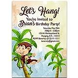 Monkey On The Vine Birthday Party Invitations