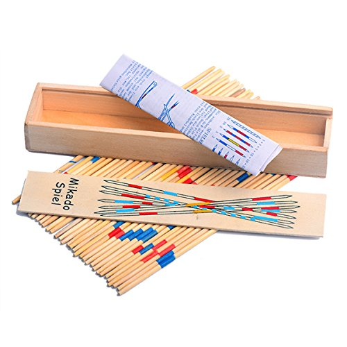 Classic Wooden Thin Pick Up Stick Game 31 Pieces Fun Family Game Gift Idea -