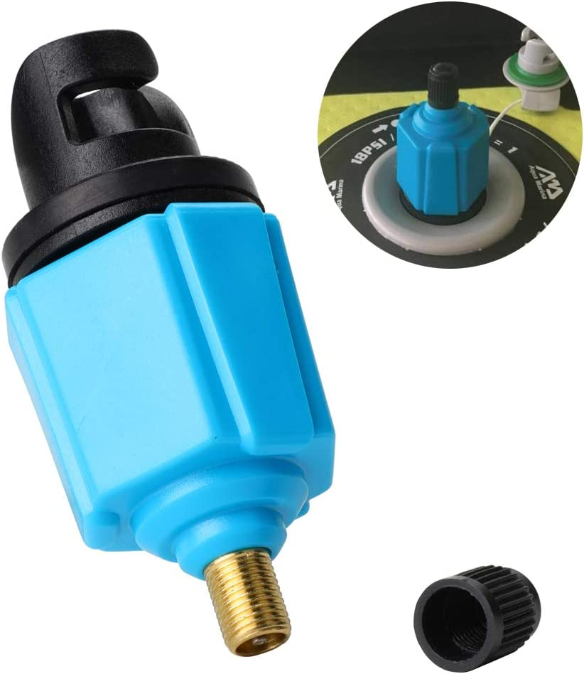 Inflatable Boat SUP Pump Adaptor Air Pump Converter, Standard Schrader Conventional Pump Adaptor Air Valve Adapter Pumping Head Connector for Inflatable Rowing Boat,Stand Up Paddle Board,Dinghy
