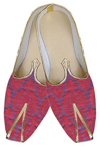 INMONARCH Herren Lila Indische Hochzeit Schuhe MJ0079
