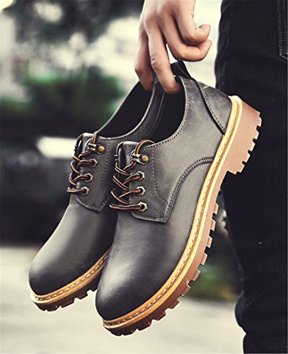 Shoes Up Classic Mens RAINSTAR Grey Low Leather Oxfords Lace PU Dress Top Casual POwdwq8x