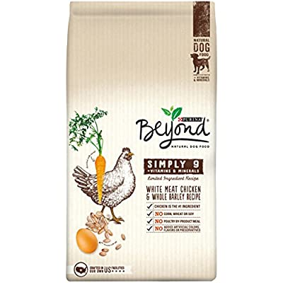 Purina Beyond Simply 9 White Meat Chicken & Whole Barley Recipe Adult Dry Dog Food - 4 Lb. Bag