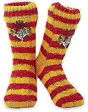 Harry Potter Sokken, Anti Slip Sokken Meisje en Jongen, Gebreide Griffindor Socks, Antislip Sokken Dames en Heren, Cadeau Ideeën voor Kinderen en Volwassenen