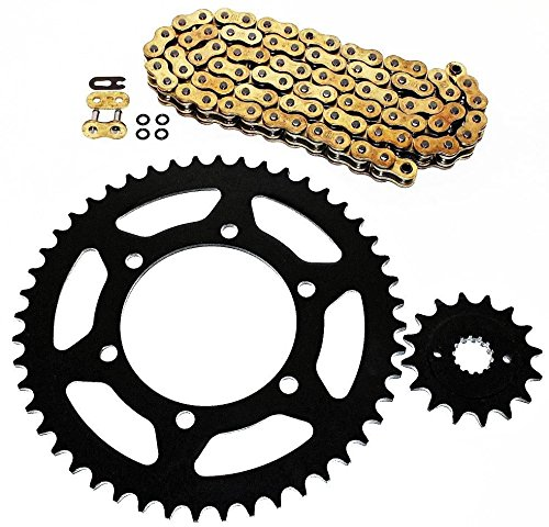 Ex250 Sprocket (Kawasaki EX250 Ninja 250R GOLD O Ring Chain and Sprocket 14/45)
