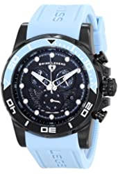 "Swiss Legend Men's 21368-BB-01-BBLAS ""Avalanche"" Stainless Steel Watch with Light Blue Silicone Band"