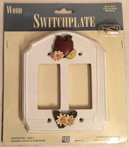 - Figi Wood Wallplate(Light Switch Cover): Apple Daisy SPRD-106