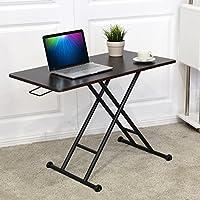KOVALENTHOR Computer Desk, Height Adjustable Stand Up Desk Riser, Laptop Riser Workstation, Converter Sit-Stand, Ergonomic Laptop Stands