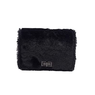 f5b2088e0164 Amazon.com: Starcy Wool Chain Buckle Lock Side Bags for Women ...