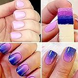 nail art seal - DATEWORK 8PC Nail Art Sponges Stamping Polish Template Transfer Manicure DIY Tool (White)