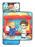 PBS Kids Daniel Tiger Let's Make Believe Kids'/Toddler/Children's Nap Mat with Built in Pillow and Blanket