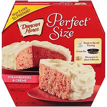 Duncan Hines – Juego de fresas y crema para tartas y ...
