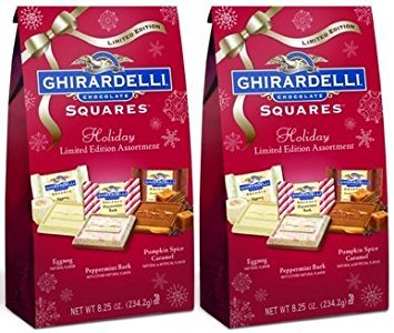 (Ghirardelli Chocolate Squares Holiday Limited Assorted Bag, 8.25oz)
