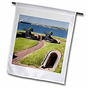 Danita Delimont - Fortifications - Maryland, Baltimore, Cannons outside Fort McHenry - US21 BBR0017 - Brent Bergherm - 18 x 27 inch Garden Flag (fl_90793_2)