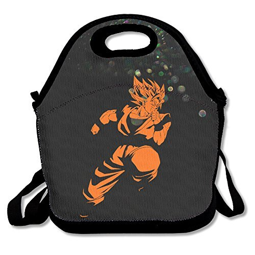 Bakeiy Dragon Cool Goku Lunch Tote Bag Lunch Box Neoprene Tote For Kids And Adults For Travel And Picnic School