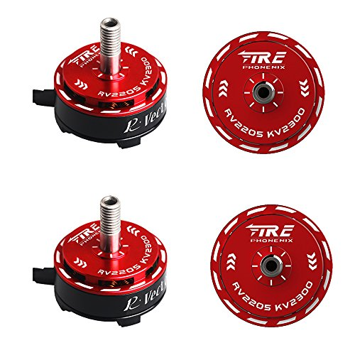 Aokfly fpv 4PCS RV2205 2300KV RC Brushless Motor For FPV Racing Drones Multirotor Quadcopter 2CW 2CCW AOKFLY … by Aokfly fpv
