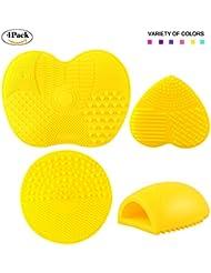 4PCS Makeup Brush Cleaning Mat Pad Makeup Brush Cleaner...