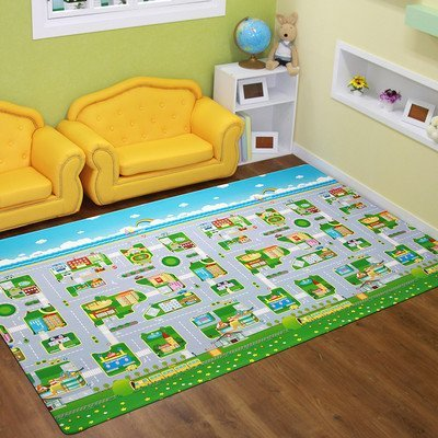 Animal Orchestra Reversible Kids Playmat Rug Size: 4' 7.1'' x 7' 6.6'' by Dwinguler