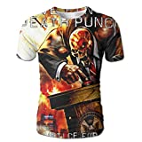 HUANGLING QING Five Finger Death Punch and Justice for None Men's 3D Print Short Sleeve Tshirt XXL