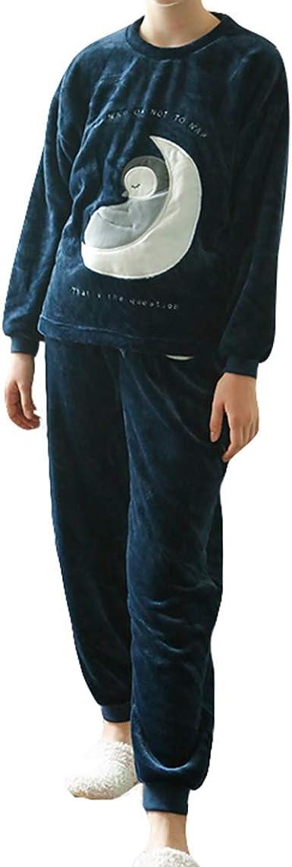 vivosun Mujer de 2 piezas pijamas Unicornio luna Flannel ...