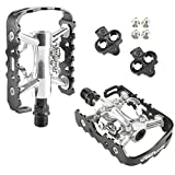 Venzo Multi-Use Shimano SPD Compatible Mountain Bike Sealed Pedals With Cleats
